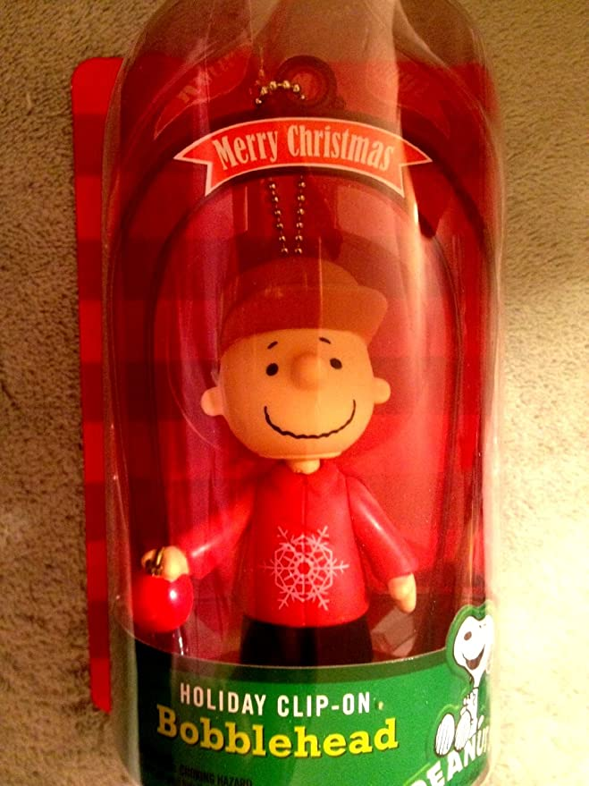 2013 CVS Holiday Clip-On Charlie Brown Bobblehead Green