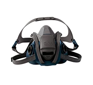 3M 6502QL Rugged Comfort Quick Latch Half Facepiece Reusable Respirator, Medium