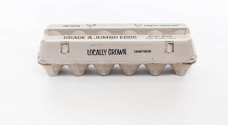 25 Clear Plastic 6 pack Grade A JumboChicken Egg Cartons