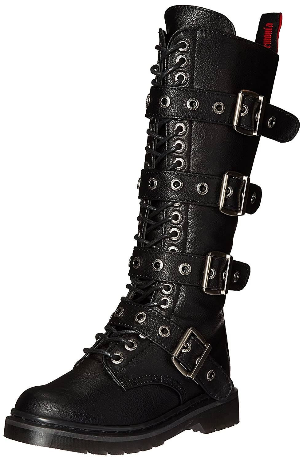Demonia Women's Riv404/bpu Boot B0193A50SY 7 B(M) US|Black Vegan Leather