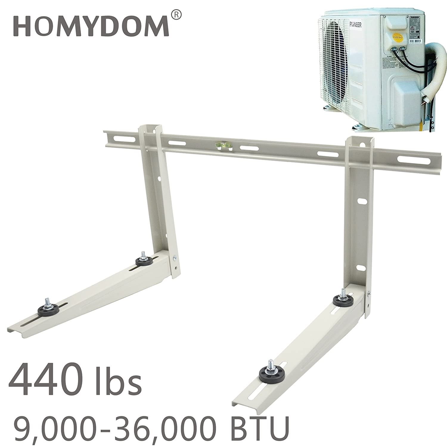 Homydom Mini Split Mounting Bracket for Ductless Air Conditioner,Universal,7000-18000 Btu Condenser