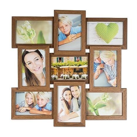 Bilderrahmen Fotogalerie Bildergalerie Fotorahmen Collage für 9 Fotos 10x15 cm