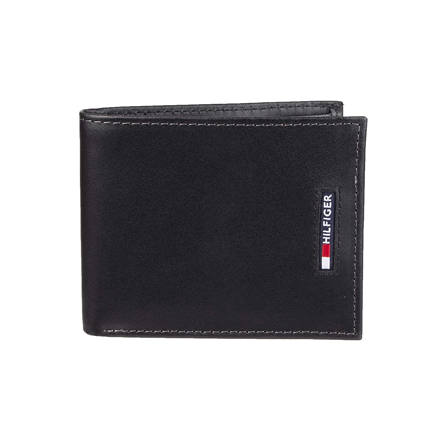 new design special for shoe sells Tommy Hilfiger Men's Leather Wallet-Bifold with RFID Blocking Protection,  black, One Size