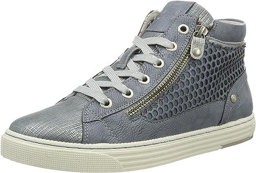 Mustang 1246 501 875, Sneakers Hautes Femme, Bleu (875 Sky