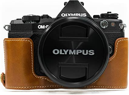 Gadget Place Brown Light Weight Leather Wrist Strap for Olympus OM-D E-M10 Mark III