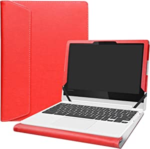 "Alapmk Protective Case Cover for 11.6"" Lenovo Chromebook C330 Series Laptop[Warning:Not fit Lenovo Chromebook S330],Red"