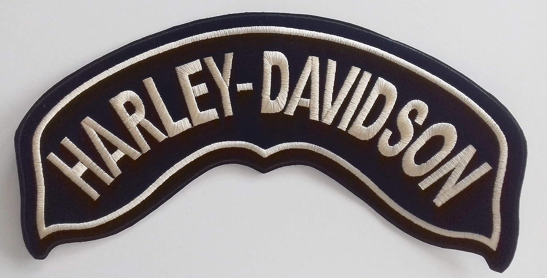 Generico Piccola Toppa Patch Rocker Harley Davidson Oro per Chapter e Hog Color Oro