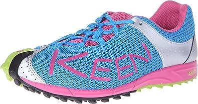 A86 TR Damen Schuhe Sport Trekking Federleicht Outdoor Freizeit Türkis Blau Weiß, Schuhgröße:37, Farbe:Blau Keen