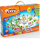 Playz Monster Chain Reactions Marble Run Science Kit STEM Toy with Race Tracks for Boys & Girls, Kids Roller Coaster Toy Experiments, Outer Space Theme Park, Boy Toy, Girl Toy, Educational Gift