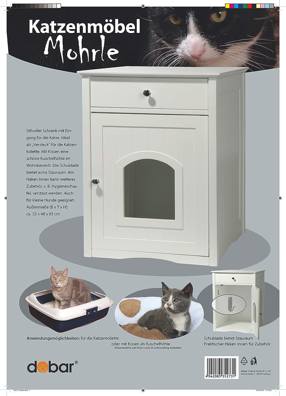 Amazon.com: dobar 35273 Mohrle - Cueva de gato con cajón ...