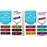 Clingks 24 Drink Markers - FOODIE FLAVORS and CHEERS AROUND THE WORLD - Fun Alternative to Wine Charms