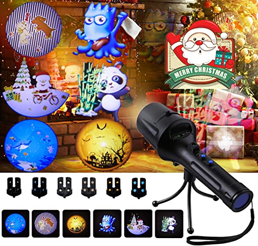 SGODDE Luces de Proyector de Navidad, LIGHT Impermeable Exterior ...