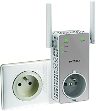 Netgear EX3800-100FRS - Repetidor de Red AC750 (802.11ac, Doble Banda, un Puerto de Ethernet Gigabit), Color Blanco [Modelo francés]: Amazon.es: Informática