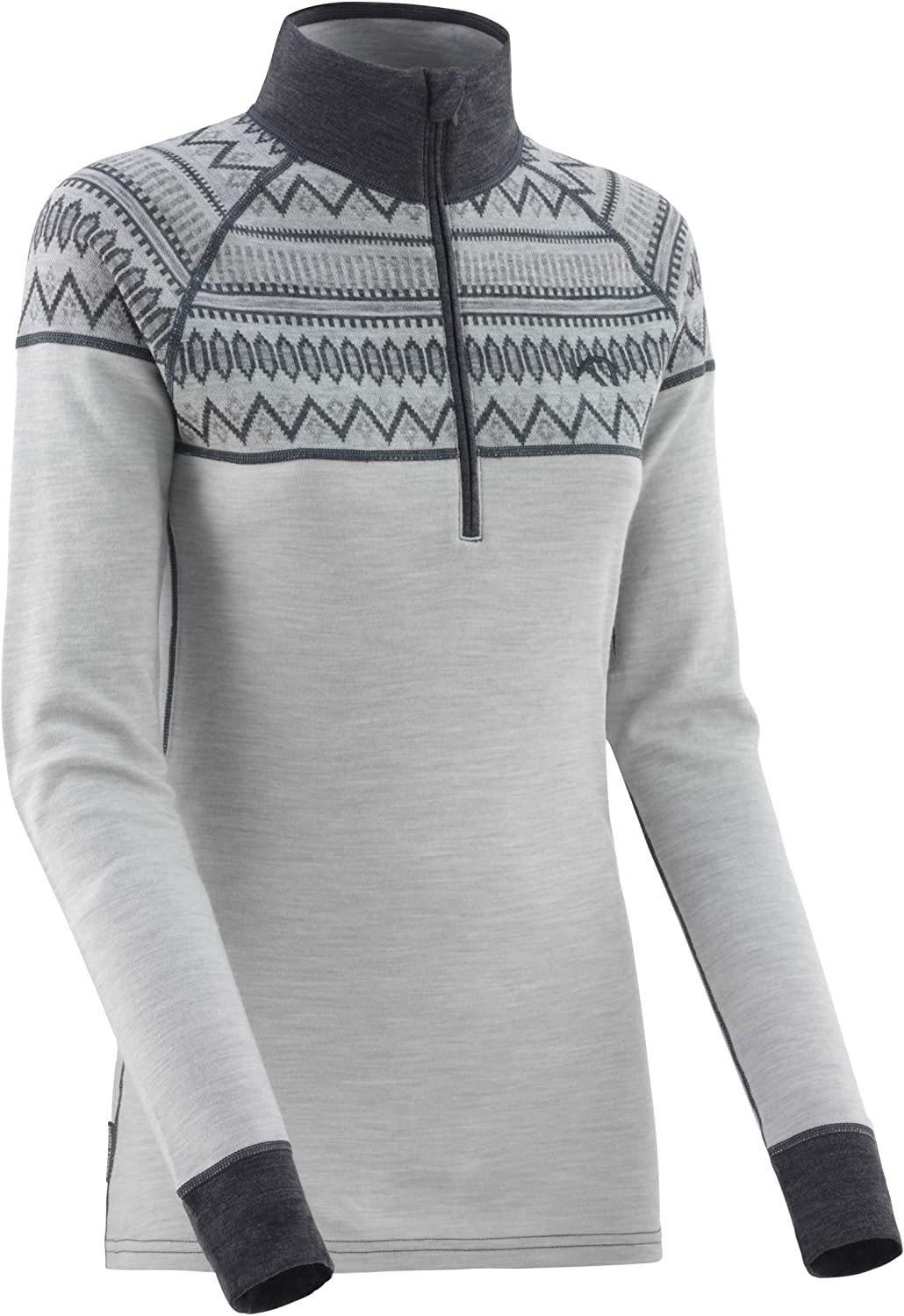 Lightweight Breathable Wicking Sports Tops TOG 24 Kirkella Womens Performance Base Layer Zip Up Top with Discreet Thumbholes Long-Sleeved Tech Outdoor Sports Training Exercise Shirt for Women