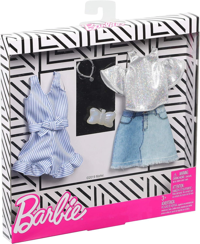 Amazon.es: Barbie Pack de Accesorios de Moda Falda Tejana con Top ...