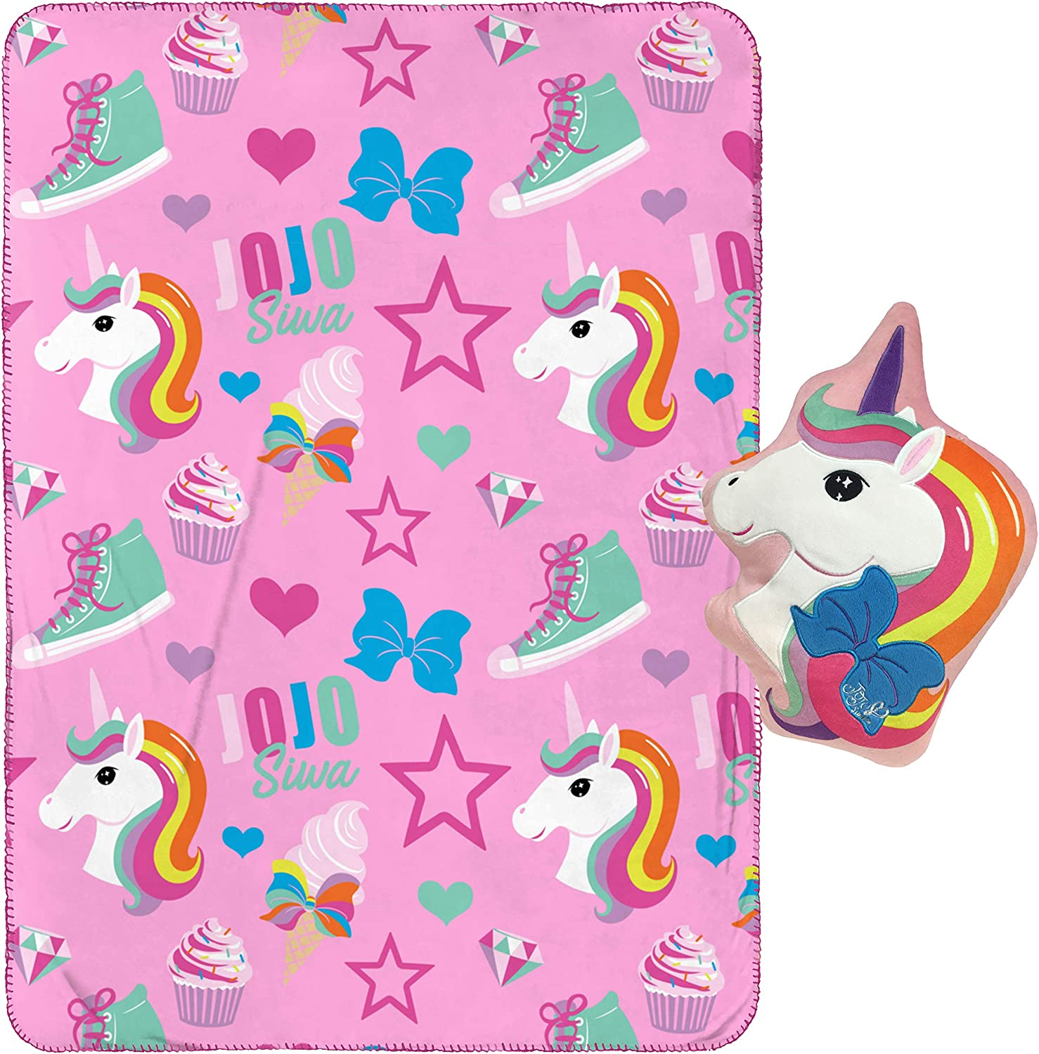 Official Nickelodeon Product Measures 40 x 60 inches Fade Resistant Super Soft Velboa - Kids Bedding Jay Franco Nickelodeon JoJo Siwa Follow Your Dreams Weighted Blanket 5 lbs