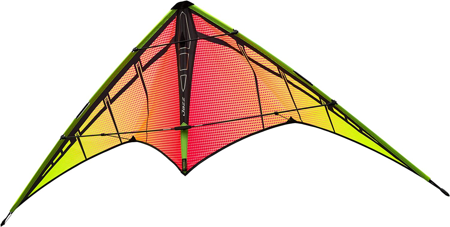 Wrist Straps Prism Kite Technology Jazz Dual-line Sports Kite Ready to Fly with Flying Lines Winder Instructions and Storage Bag
