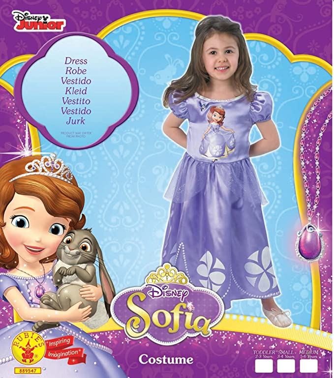 Rubies`s - Disfraz infantil de Sofia clásico (889547-T): Amazon.es: Juguetes y juegos