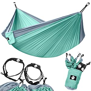Legit Camping Double Lightweight Parachute Portable Hammocks