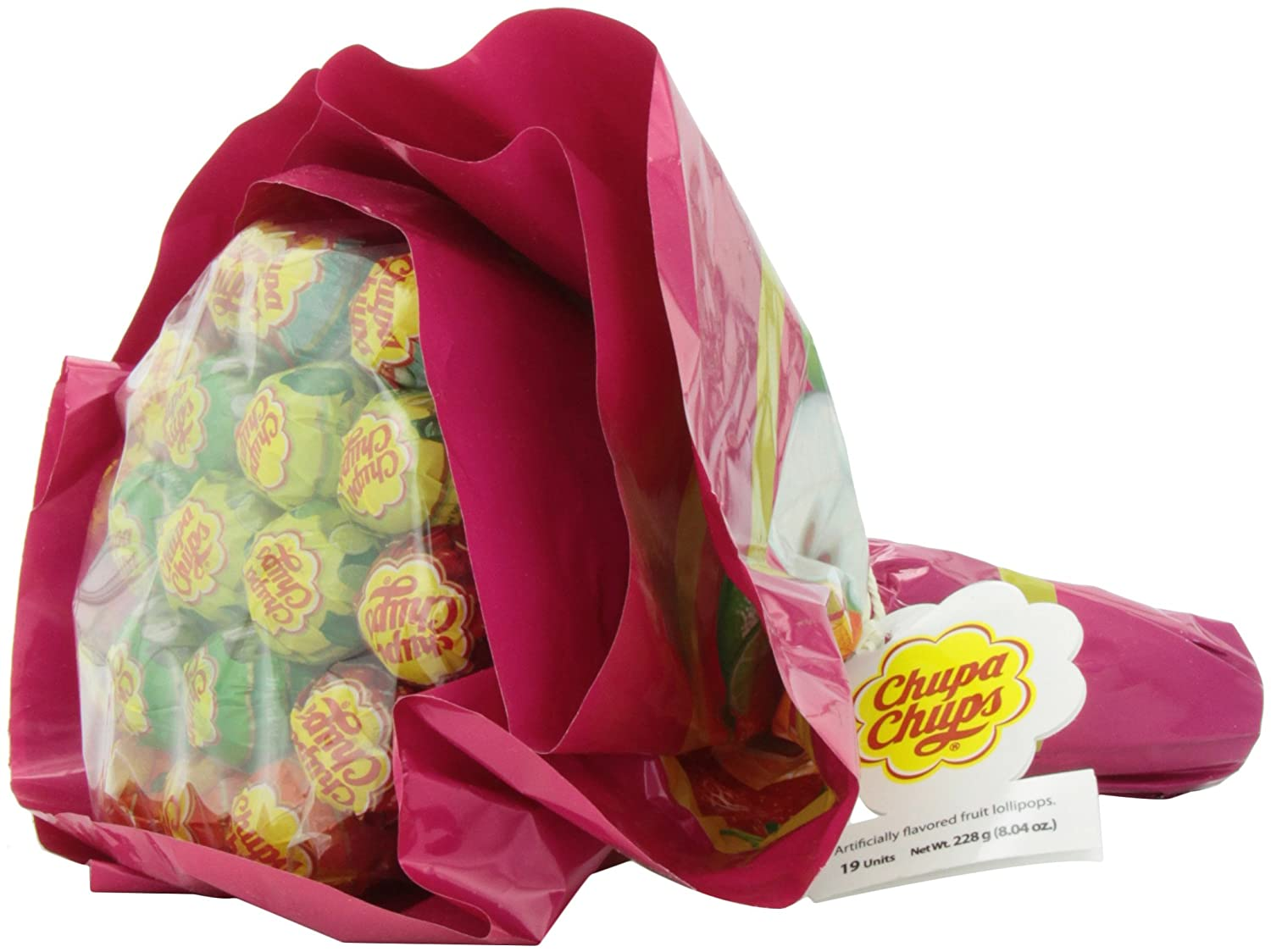 Amazon.com : Chupa Chups Large Flower Bouquet, 19 Count : Gummy ...
