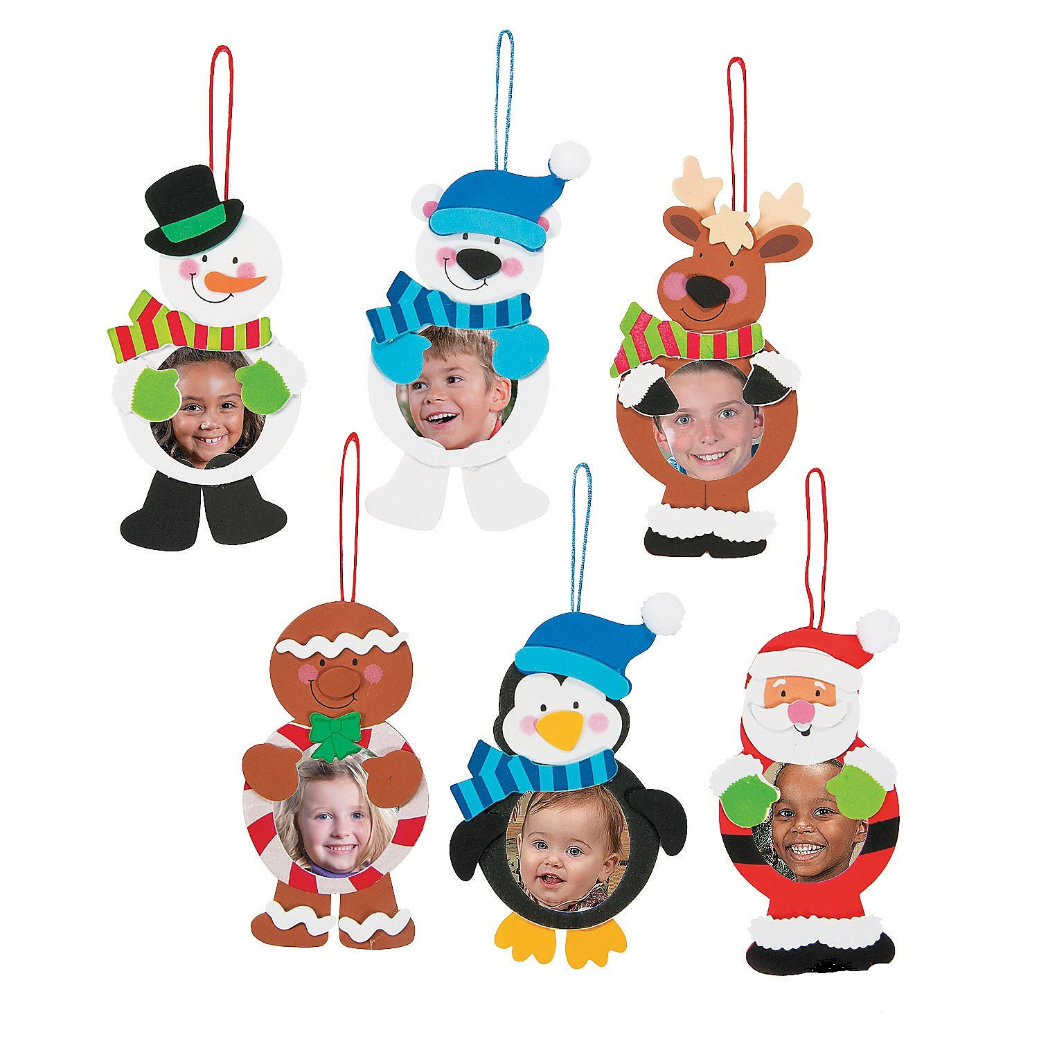 Amazon.com: 12 ~ Christmas Character Photo Frame Ornament Craft ...