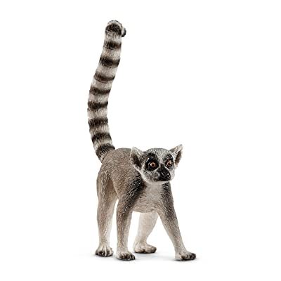 SCHLEICH Wild Life Ring-Tailed Lemur Educational Figurine for Kids Ages 3-8: Toys & Games