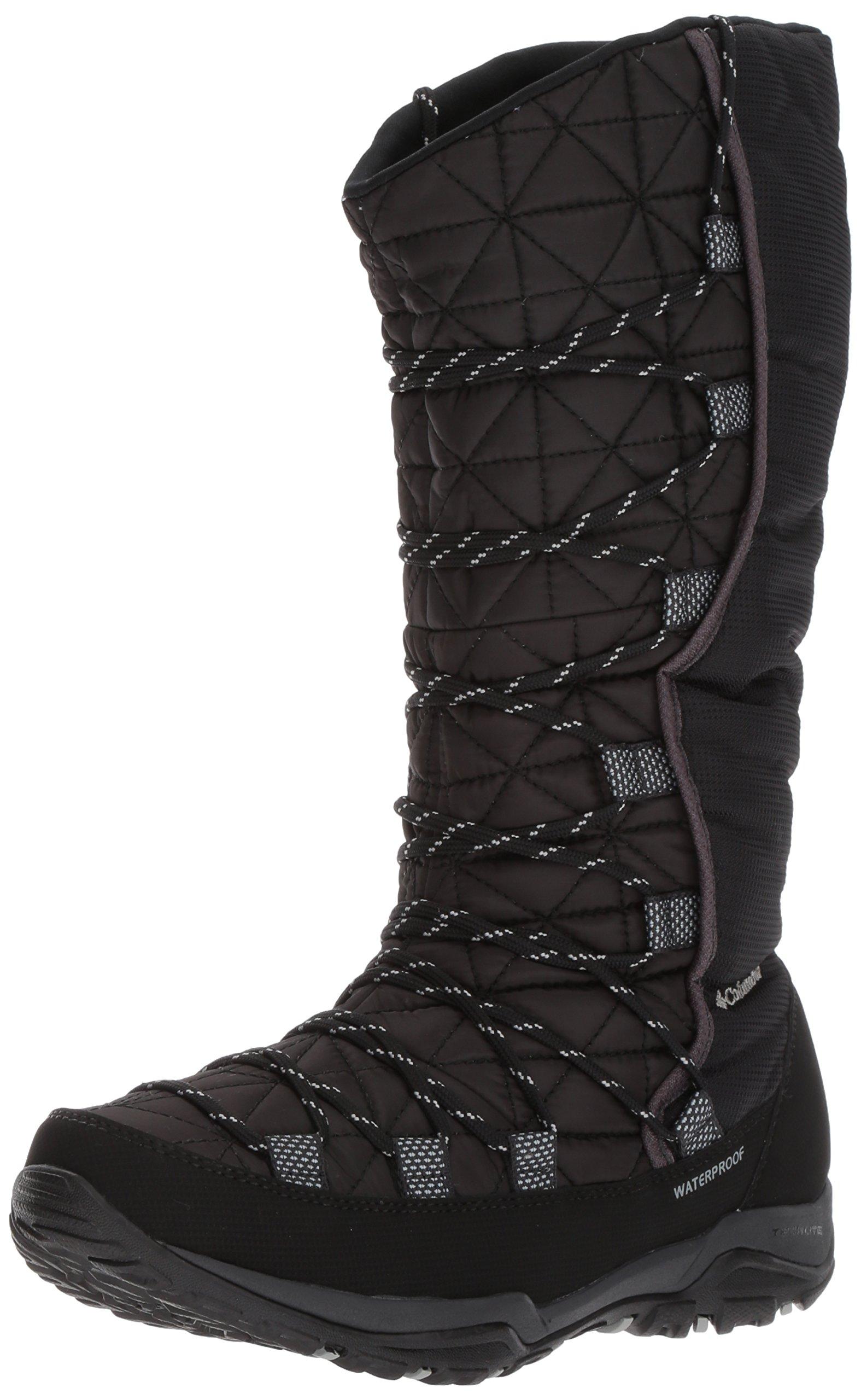Columbia Women's Loveland Omni-Heat Snow Boot, Black, Earl Grey, 8.5 B US