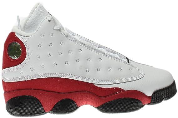 best loved 3b127 808e7 Nike Jordan Kids Air Jordan 13 Retro BG White Black True Red Cool Grey Basketball  Shoe 6 Kids US  Amazon.co.uk  Clothing