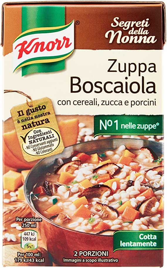Zuppa cereali, zucca e porcini knorr boscaiola - 500 ml B0864KL27C
