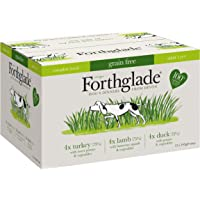 Forthglade 100% Natural Dog Food Grain Free Complete Wet Dog Food Variety Pack 395g (12 Pack)