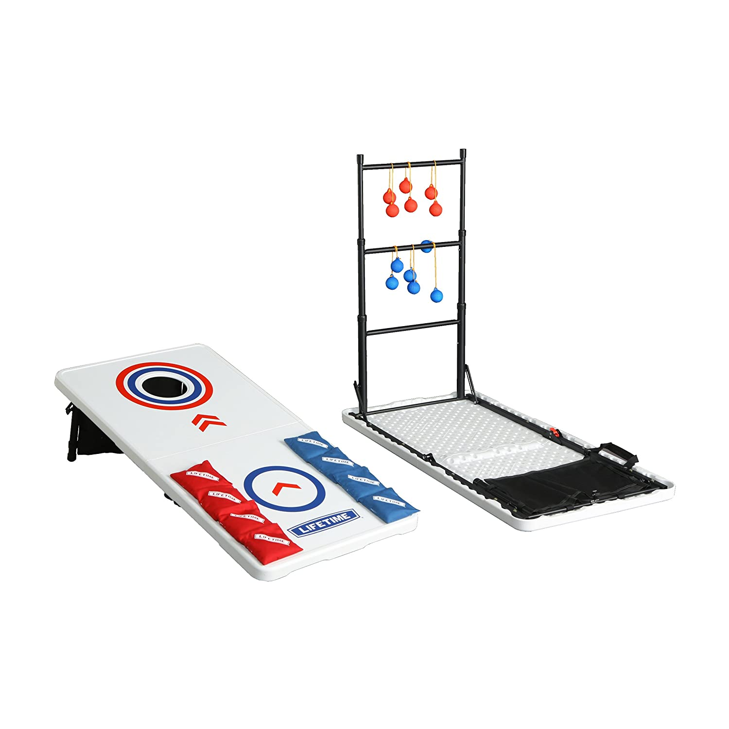 90466 Ladderball Game and Table Combo Set Lifetime Lifetime Heavy Duty Cornhole Dropship