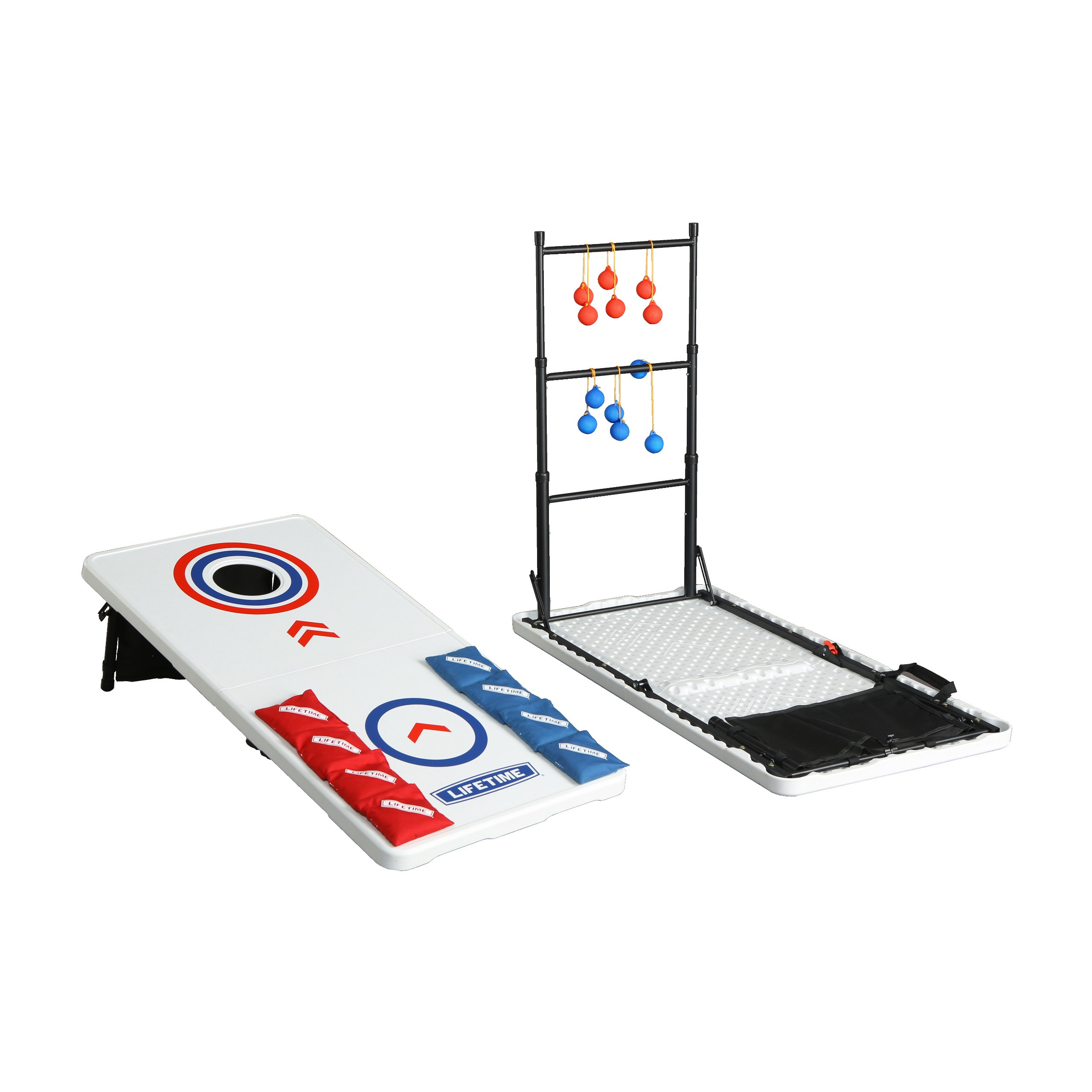 Lifetime 90466 Bean Bag Toss, Ladder Toss, Folding Tailgate Combo by Lifetime
