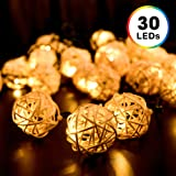 Amazon Price History for:Solar String Lights, DecorNova 20 Feet 30 LED Rattan Ball Fairy Lights with Waterproof Solar Panel & 2 Lighting Modes for Outdoor Patio Lawn Garden Christmas Party Decorations, Warm White