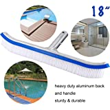 BIGTHUMB Pool Brush,18 inch Pool Brush Head for Swimming Pool,with Aluminum Back and Nylon Bristle,for Cleaning of…