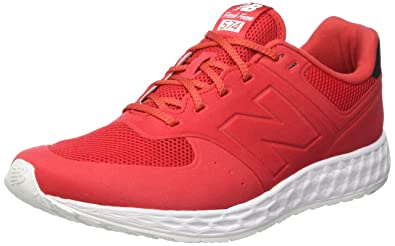 new balance shoes red. new balance classics men\u0027s mfl574 red sneaker 8 d shoes