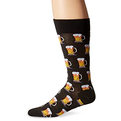 Hot Sox Men's Food and Booze Novelty Casual Crew Socks at Men's Clothing store