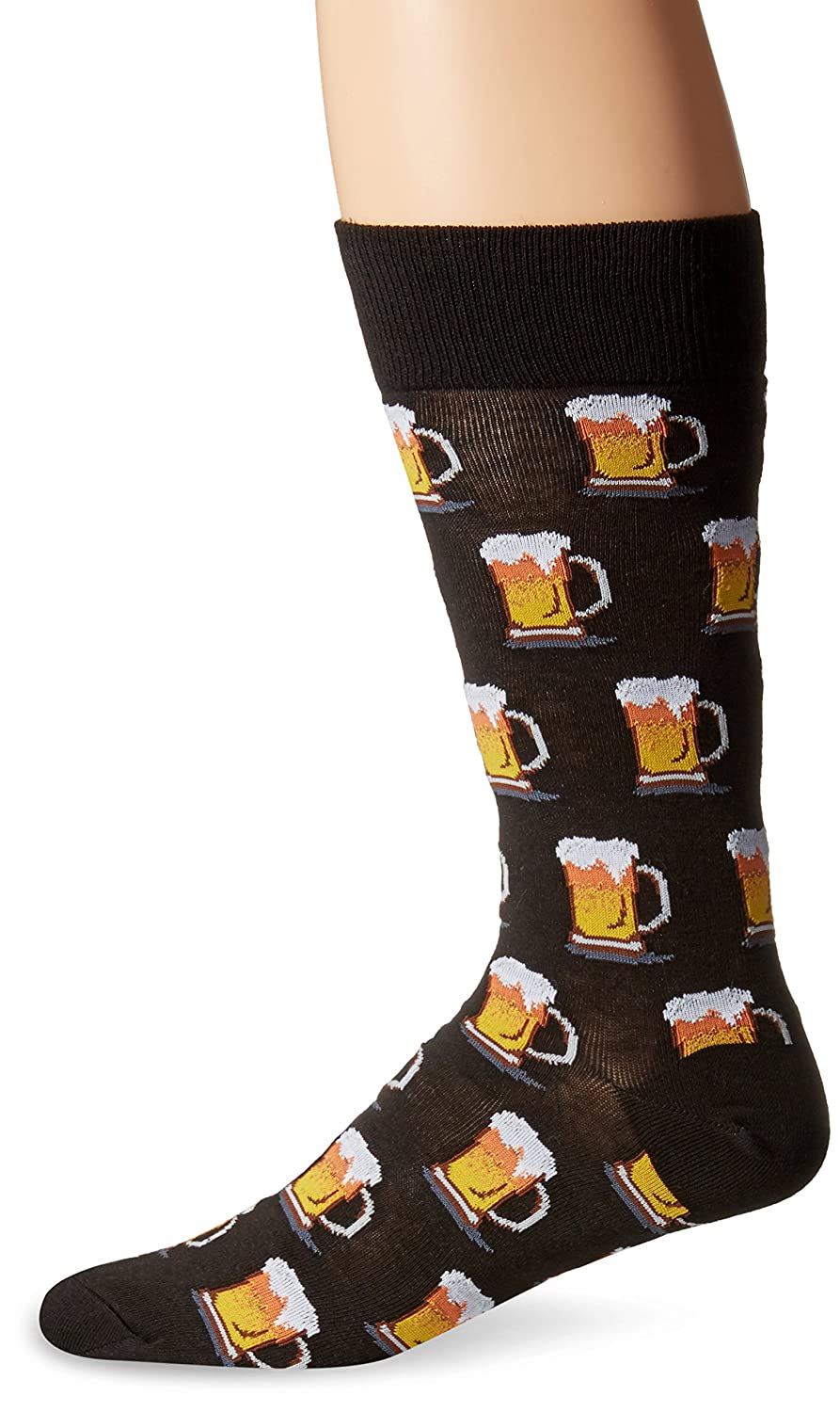 Hot Sox Men's Beer Crew Hot Sox Men' s Beer Crew Black 10-13 Hot Sox Mens Socks