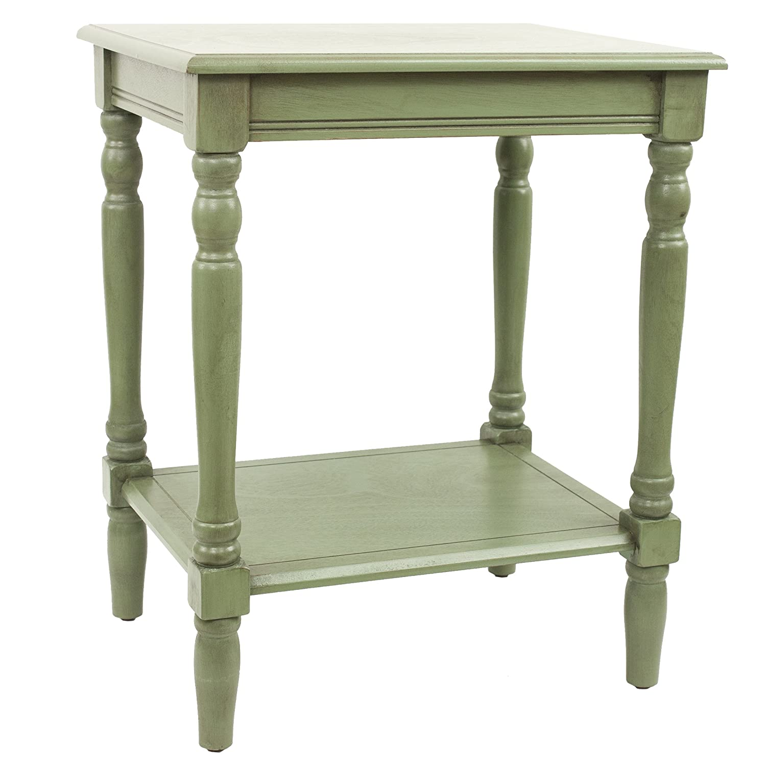Amazon.com: Décor Therapy FR1572 Simplify End Table Green: Kitchen ...