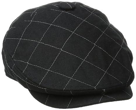 9dea4d17d San Diego Hat Co. Men's Quilted Driver Hat with Faux Leather Underbrim Self  Button,