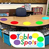 New Larger Size! | The Original Table Spots for Teachers | No Staining, No Shadowing, Complete Erase! Dry Erase, 10 Pack Multicolor Circles, Wall Stickers, Decals
