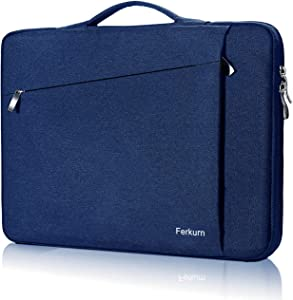 Ferkurn 13 13.3 13.5 inch Laptop Sleeve Carrying Handle Case Compatible with MacBook Air 2019 2018 Mac A1932 A1466, MacBook pro 13, XPS, HP, Surface Laptop, iPad Pro 12.9, Acer , Surface Pro Case Blue