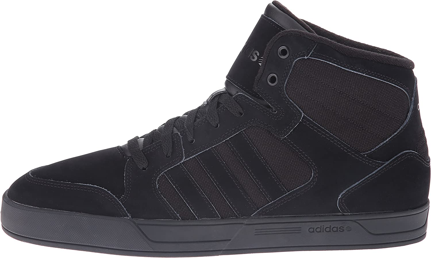 adidas NEO Men's Raleigh Mid Lace Up Shoe,BlackBlackBlack