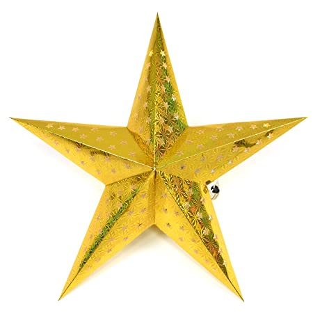 Led Beleuchtung Für Papiersterne | Nipach Gmbh Papierstern 3d 10 Led Gold Weihnachtsstern Faltstern
