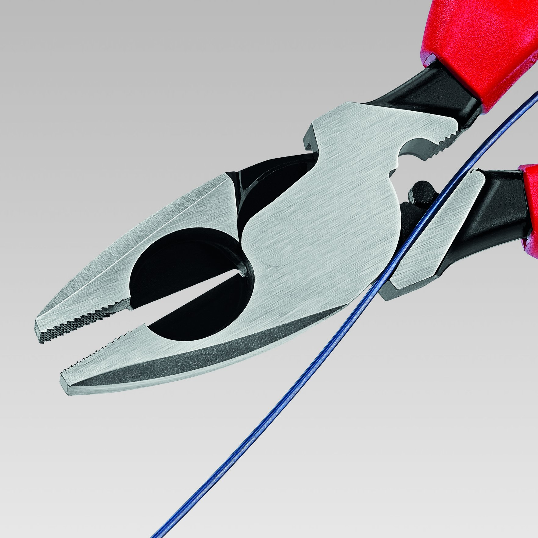 Knipex 09 11 240 9.5-Inch Ultra-High Leverage Lineman's Pliers with Fish Tape Puller and Crimper by KNIPEX Tools (Image #2)