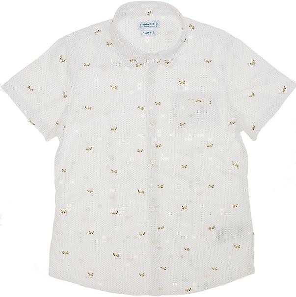 Mayoral, Camisa para niño - 3146, Blanco: Amazon.es: Ropa y accesorios