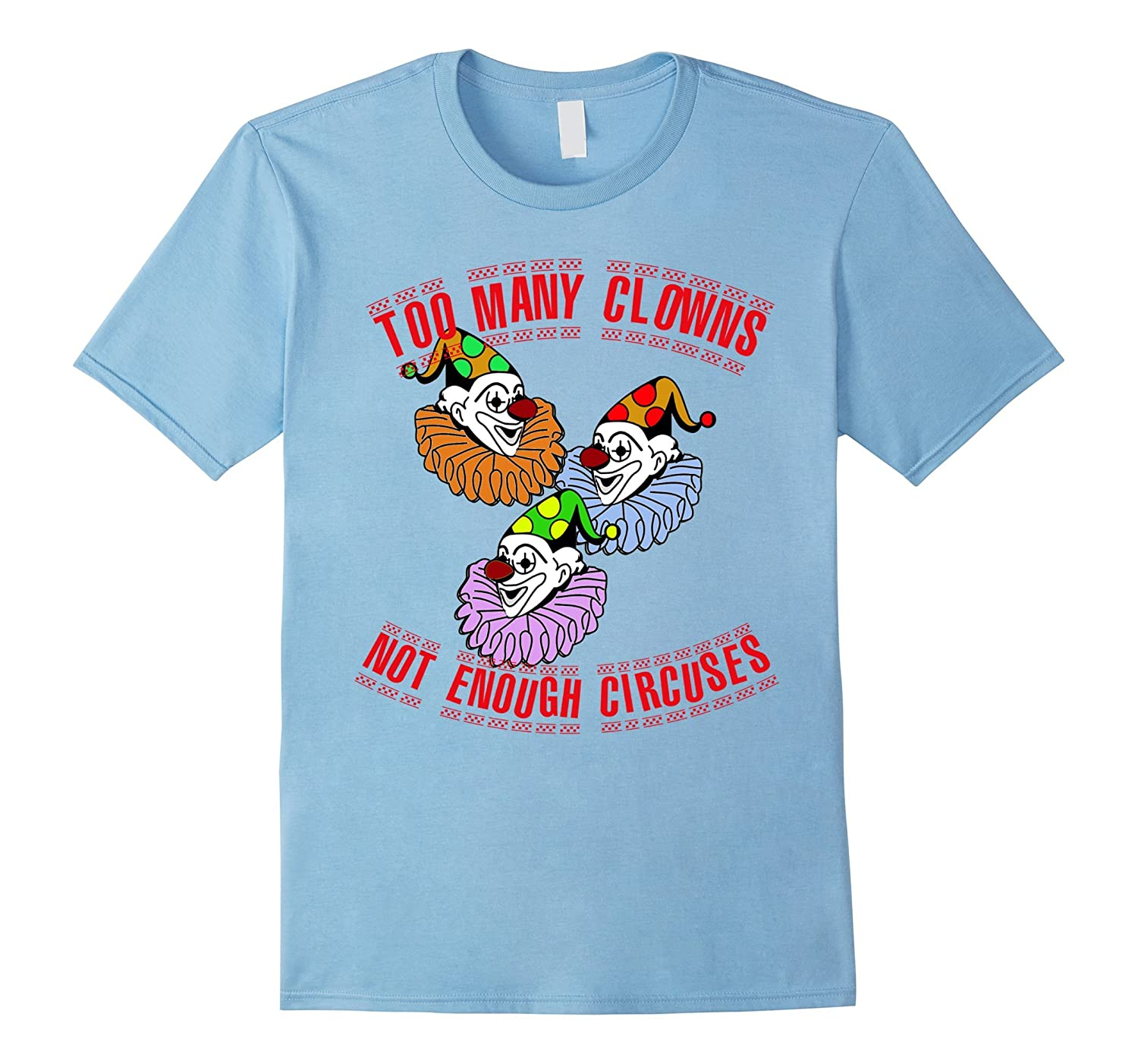 Too Many Clowns T-shirt-Art
