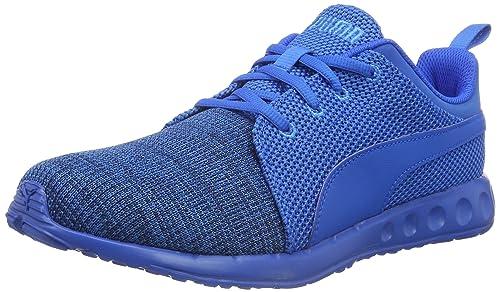Puma Carson Runner Knit EEA - Zapatillas de Entrenamiento Unisex Adulto, Color Azul (Peacoat-Electric Blue Lemonade 03), Talla 39 EU
