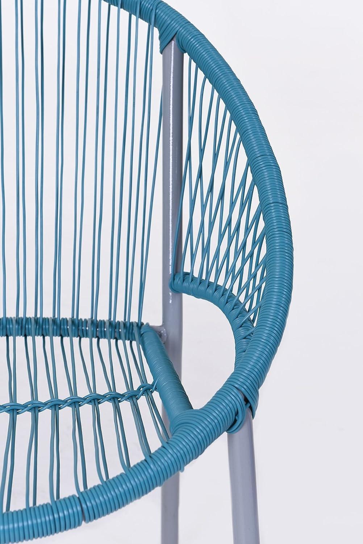 Vivanno Muebles De Jard N Sill N Silla Livorno Pl Stico Turquesa  # Muebles Tejidos De Plastico