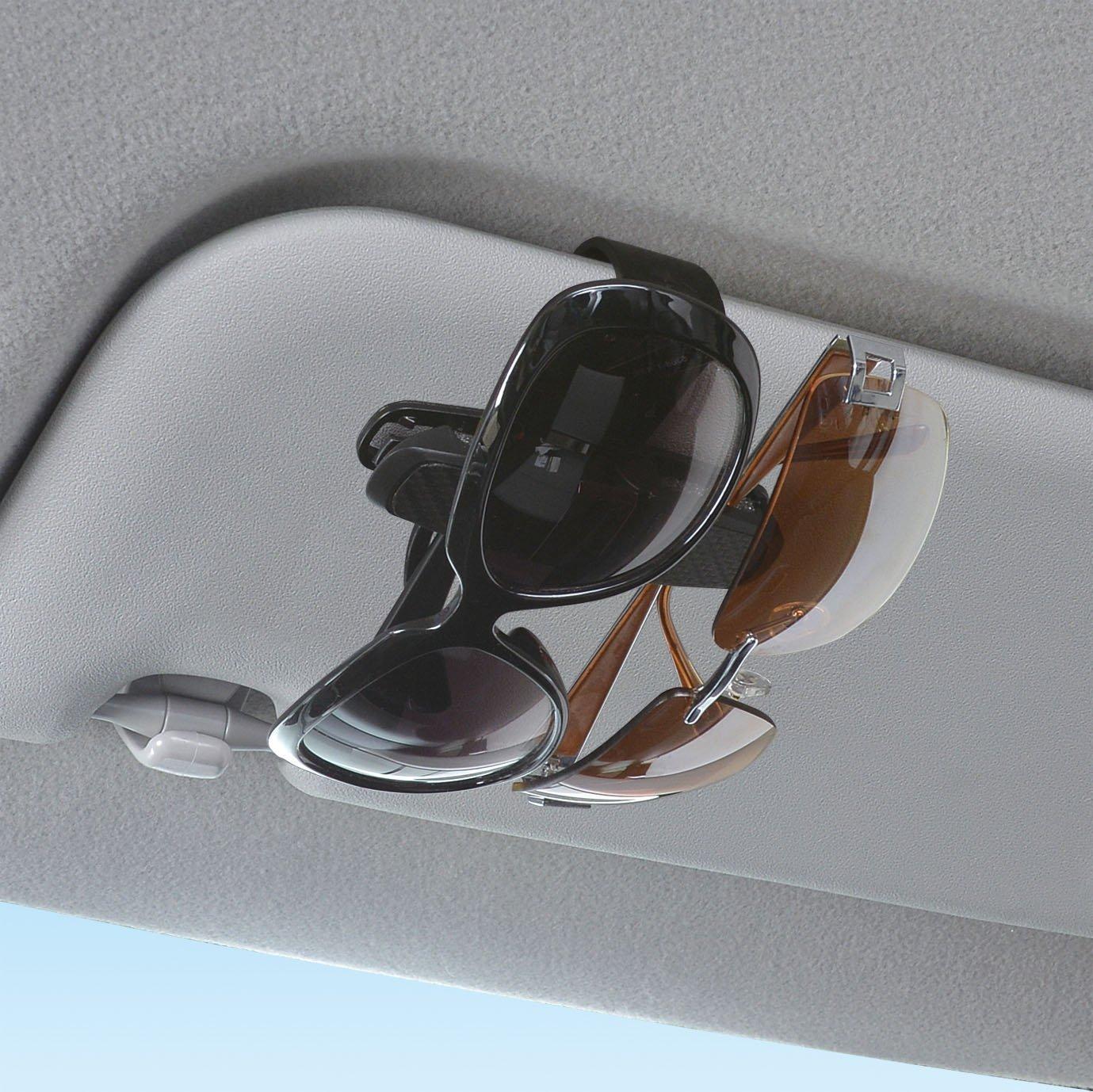 Schwarz Sonnenbrillen Brillen mit Kartenkarten Clip Myhonour Brillenhalter f/ür Auto Sonnenblende