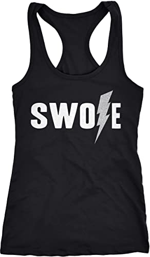 Crazy Dog TShirts - Womens Swole Lightning Bolt Funny Fitness Workout Sleeveless Tank Top - Camisetas De Tirantes Para Mujer